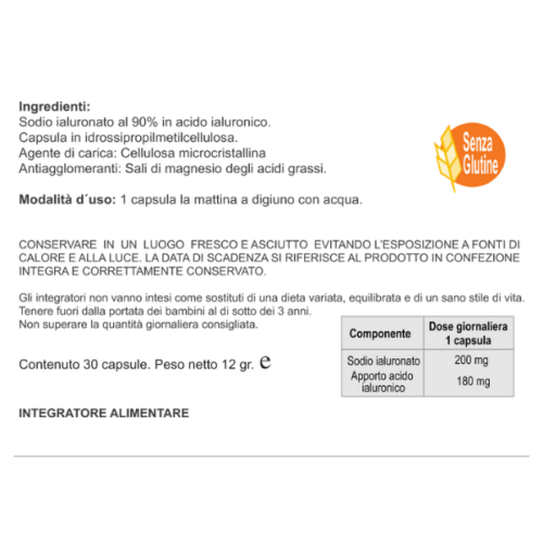 Naturincas - Ialuronic Integratore Pelle e Articolazioni retro