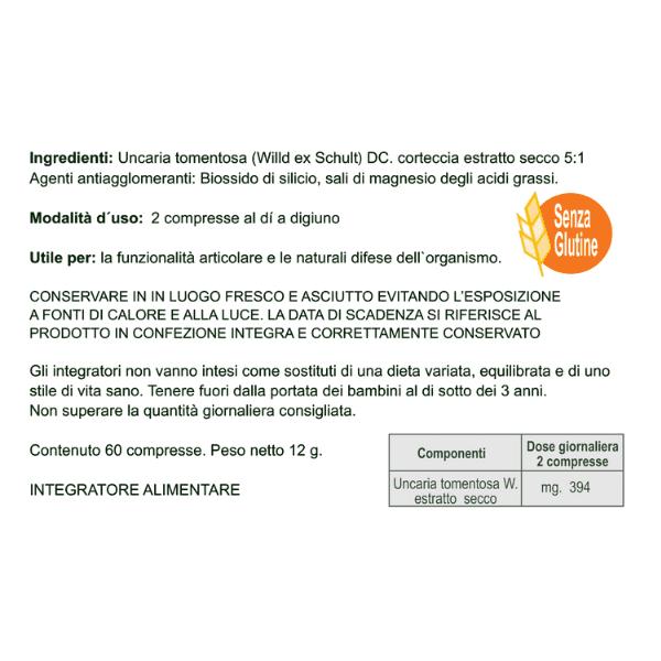 Naturincas - Una de Gato integratore alimentare retro