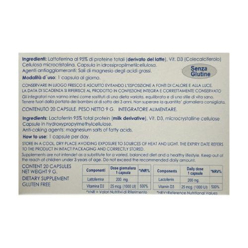 Virnox - Lattoferrina + Vitamina D3 retro