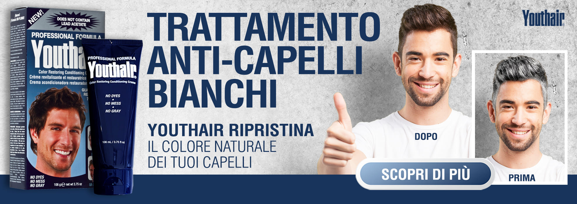 YOUTHAIR capelli bianchi